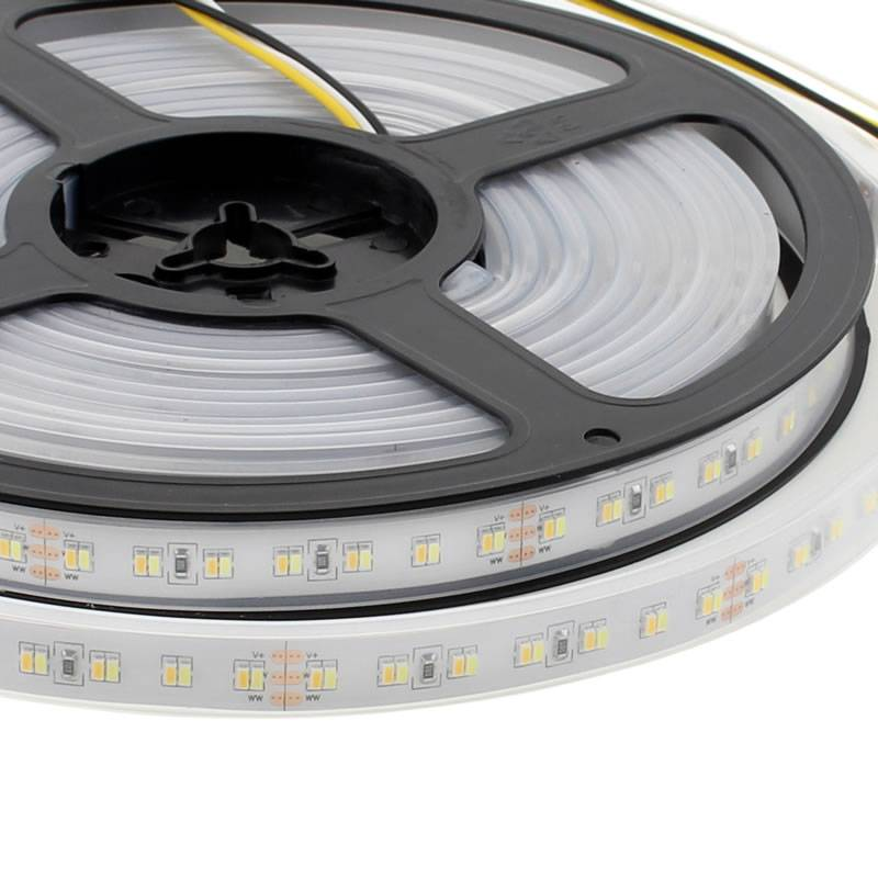 Tira LED Blanco Dual SMD3014, DC24V, 5m (224 Led/m) - IP65, Blanco dual
